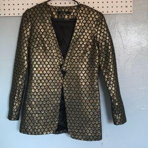 Metallic gold blazer